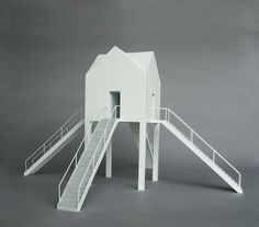 House With Four Intersecting Stairways