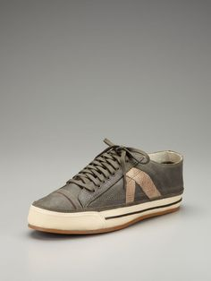 PF Flyers  Leather Classic Number 5 Lace Up Sneakers