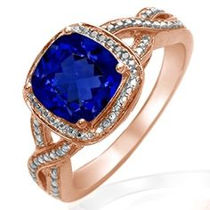 Kay - Lab-Created Sapphire Ring Rose Gold