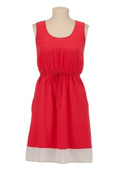 Contrast Hem Tank Dress With Pockets available at #Maurices