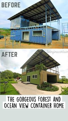 Shipping Container Home Designs, Container House Design, Tiny House Design, Tiny Houses Plans With Loft, Modern House Plans, Silo House, Tiny House Cabin, Building A Container Home, Container Buildings