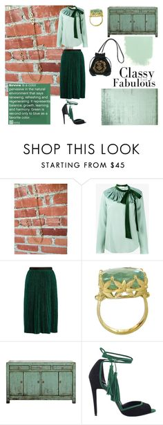 """""""The Harmony of Green"""" by troppo-bella-vintage on Polyvore featuring Chloé, Vanessa Bruno, Balmain, Pierre Hardy and vintage"""
