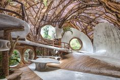 conceived by the grandson of peggy guggenheim, IK LAB, a contemporary art gallery that recently opened in tulum, mexico, promises to transcend the traditional confines of the art museum. Peggy Guggenheim, Architecture Baroque, Organic Architecture, Architecture Design, Contemporary Architecture, Pavilion Architecture, Residential Architecture, Architecture Quotes, Scandinavian Interior Design