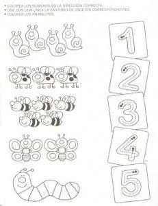 Animal number count worksheet for kids | Crafts and Worksheets for Preschool,Toddler and Kindergarten