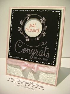Stampin' Studio, Stampin' Up! Your Perfect Day, Chalkboard Paper, Color box Chalk Ink, Wedding Card
