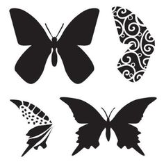 """3 X The Crafter's Workshop 6"""" x 6"""" Design Template Butterfly #TheCraftersWorkshop"""