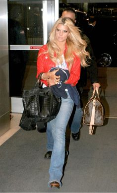 Jessica Simpson at JFK Airport in New York City Feburary 8 2006