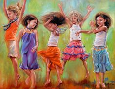 Girls dancing - Life should not only be lived - but celebrated !
