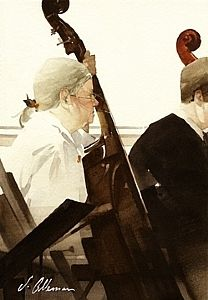 "Joseph Alleman / 2003 / Master Class / Watercolor  / ~ 8.5"" x 6"""