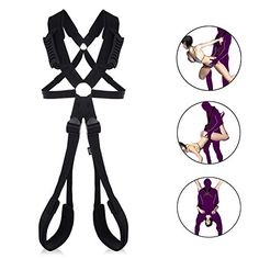Utimi Sex Swing for Couples Hanging Accessories Fetish Fantasy Swing with Handlebar Thigh Cuffs