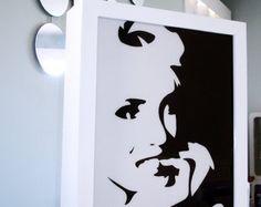 Marilyn Monroe pop art light box - illuminated movie memorabelia nightlight - large wooden picture lightbox