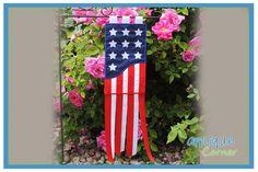 Applique Corner American Flag Garden Flag Design