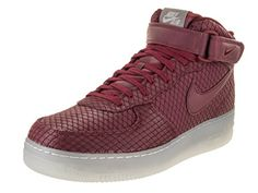 Nike's groundbreaking sneaker keeps you looking cool with its timeless style. Mens Basketball Sneakers, White Basketball Shoes, Nike Basketball, Air Force 1 Mid, Nike Air Force, Best Shoe Cleaner, Burgundy Sneakers, Nike Shoes, Sneakers Nike