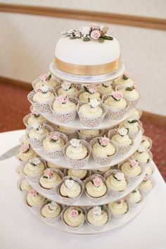 Large Round 5 tier Cupcake Stand Cake Stand Tower by JoplinDesignz, $95.00