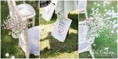 Winton House Cottage Wedding - Wedding Signage - outdoor ceremony -pew ends - flowers - gypsophila - Edinburgh Wedding Photographer Julie Tinton Photography