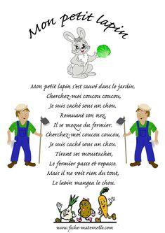 Chanson Mon petit lapin