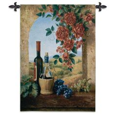 Fine Art Tapestries Patio View Wall Tapestry