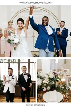 Check out this fun wedding party having a blast on a beautiful wedding day! The bride is wearing a Wedding Shoppe gown and it fits her vibe perfectly. Find your perfect wedding gown with the Wedding Shoppe | #summerweddinginspo | #bridalparty | #summerweddingflorals | Wedding Shoppe Wedding Gowns Blush Pink Bridesmaid Dresses, Blush Pink Wedding Dress, Blush Pink Weddings, Floral Wedding, Lace Wedding, Wedding Attire, Wedding Gowns, Wedding Shoppe, Lovely Dresses