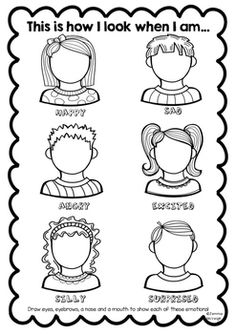 Worksheet Feelings And Emotions Worksheets Pdf emotions worksheet for children draw the faces ot self this is from my exploring bundleit encourages students to explore all of facial