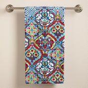 A great way to brighten up the bath! Moroccan Bath Towel