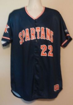 Spartans Baseball Jersey Size 48 Pro-Dri #22 SUMMERHAYS NWOT #Rawlings #SPARTANS