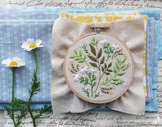 Embroidery kit DIY kit Hand embroidery Green by TamarNahirYanai
