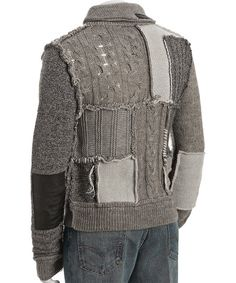 prps-heather-grey-patchwork-cable-knit-sweater