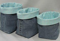 Porta-treco decorado com tecido