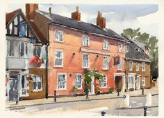 images of buildings in watercolour - Google Search