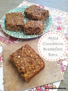 Apple Cinnamon Breakfast Bars, by dietitian @Matt Valk Chuah Lean Green Bean. These are perfect for kids who may have trouble getting up in the morning, causing them to skip breakfast. Part of our #DairyFuel for #BackToSchool recipe exchange!
