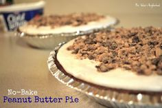 No-Bake Peanut Butter Pie via @laurenweber84 #coolwhip