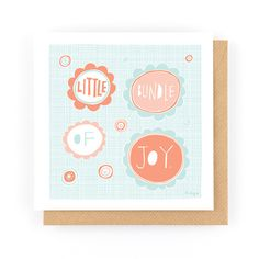 LITTLE BUNDLE OF JOY - Greeting Card www.freya-art.com