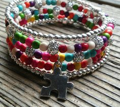 Hey, I found this really awesome Etsy listing at https://www.etsy.com/listing/276175930/autism-awareness-bracelet