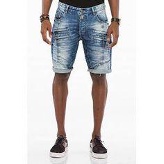 Jeansshort Shorts Kurze Hose Herren Hellblau JUNKYARD SALE WOW Fashion Style