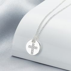 Angel of Mine Cross Necklace | Holy Communion Gift | Molly Brown London