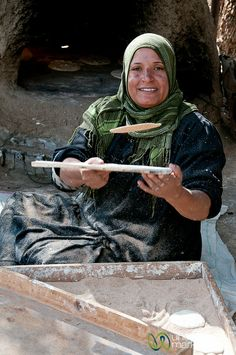 Making Egyptian Flatbread - Cairo, Egypt (ate this daily, 3 times a day! when I lived there..fresh, and wonderful!)
