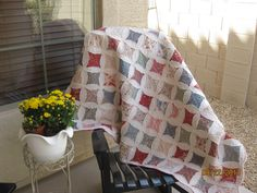 """""""cami's cathedral window"""" pattern by the shabby trunk on facebook. sample sewn by betsy v!"""