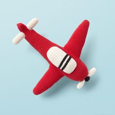 Airplane from ANNE-CLAIRE PETIT are designed in The Netherlands and produced in developing countries with respect for the local people. Hand Crochet, Crochet Toys, Airplane, Claire, Organic Cotton, Dinosaur Stuffed Animal, Handmade, Crocheted Toys, Plane
