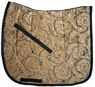Beautiful Gold Mistral Chenille/Brocade Baroque Dressage Saddle Pad $39.95. Many more Baroque saddle pads to choose from at www.equestrianhomeaccessories.com.