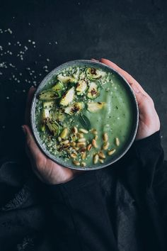 Cleasing Brussel Sprout Soup for a Gentle Detox #detox #healthy #detoxrecipe #detoxsoup #soup #ayurvedic #foodstyling #foodphotography | TheAwesomeGreen.com