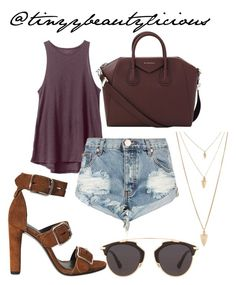 Untitled #381 by tinyybeautylicious on Polyvore featuring polyvore, fashion, style, RVCA, One Teaspoon, Alexander Wang, Givenchy, Forever 21, Christian Dior and clothing