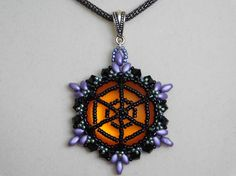 Charlotte's Web Pendant Tutorial by designer Poetry in Beads. Pattern for purchase