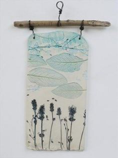 Plaque 6 Lavander and Sage - Shirley Vauvelle Using spring flowers for inspiration for clay projects! Ceramics Projects, Clay Projects, Clay Crafts, Arts And Crafts, Ceramic Wall Art, Ceramic Clay, Slab Pottery, Ceramic Pottery, Clay Tiles
