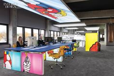 25 Must-Have Office Furnishings Office Space Design, Workspace Design, Office Workspace, Office Walls, Environmental Graphic Design, Signage Design, Commercial Interiors, New Wall, Office Interiors