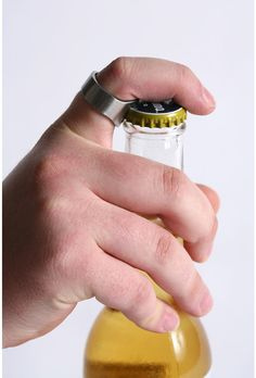 Ring Bottle Opener: Reviewers say this runs big, so maybe it would be cool for a guy.