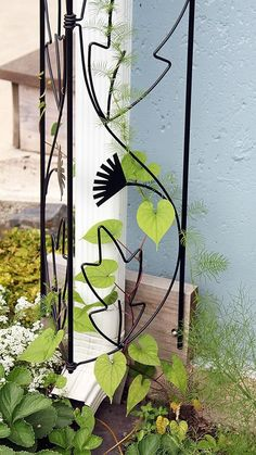 Amazon.com : Achla Designs Downspout Trellis, Black : Patio, Lawn & Garden