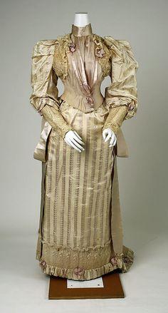 "Dress  Redfern (1847–1940)  Date: ca. 1892 Culture: American Medium: silk, cotton  Marking: [label] ""Redfern, New York, London, Paris"""