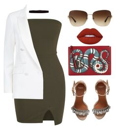 """""""Untitled #614"""" by amoney-1 ❤ liked on Polyvore featuring Gucci, PALLAS, Steve Madden, Givenchy, Lime Crime and Bulgari"""