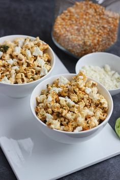 Fajita-Flavored Popcorn with Queso Fresco | Bake Your Day >> #WorldMarket Movie Night Giveaway Sweepstakes http://sweeps.piqora.com/worldmarket