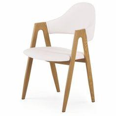 Mobler K247 židle bílá-dub velbloudí
